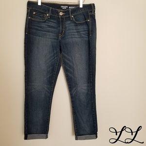 Levis Denizen Jeans Dark Wash Cropped Boyfriend